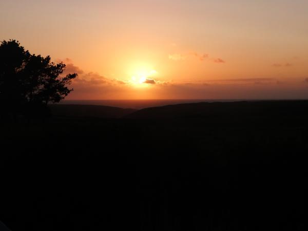 coucher du soleil sur Donnant 2